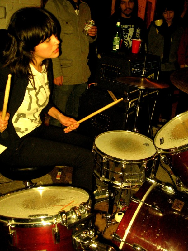 Veronica on Drums